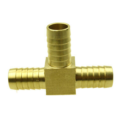 Brass Hose Barb Fitting Tee Connector For Hose ID -