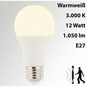 Luminea LED-Lampe mit Radar-Bewegungssensor, 12 W, E27, warmweiß, 3.000 K