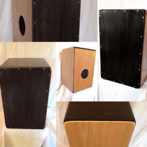 Cajon drum. With distinct Bass & tuning wire Snare sound.