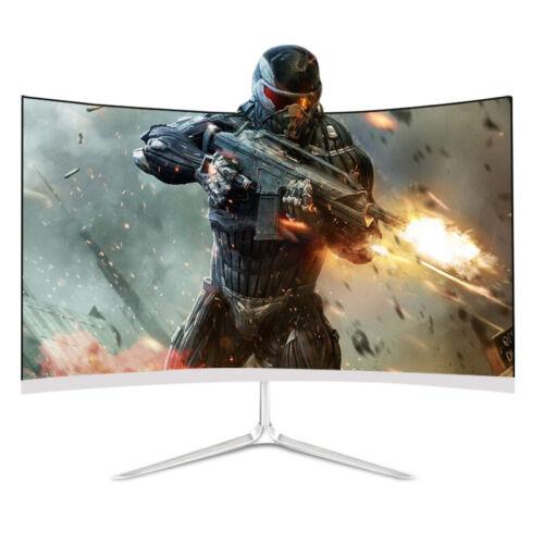 24 inch LED Curved Monitor TechNoob 75hz 1920x 1080 HD Desktop Laptop VGA HDMI