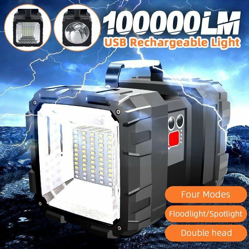 USB Rechargeable Portable Super Bright LED Searchlight Handheld light Flashlight
