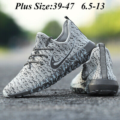 Mens Breathable Running Shoes Ultra Light Trainer Lace Up Casual Sneakers - Lace Up Running Shoes