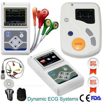 24h Dynamic Ecg Holter Monitor Ekg System Machinepacemaker Analyzerpc Software