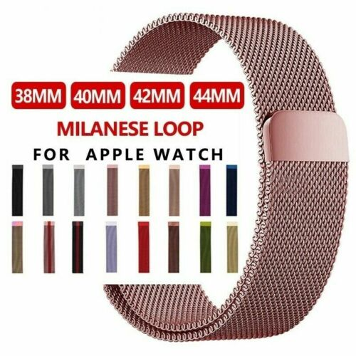 For Apple Watch Series 5 4 3 2 1 Milanese Stainless Steel iW