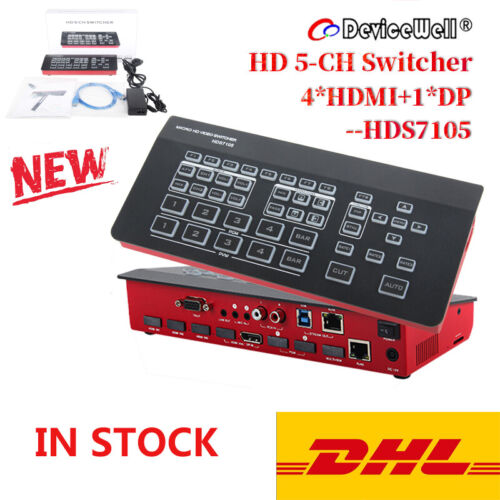 DeviceWell HDS7105 Live Streaming Video Switcher for Media L