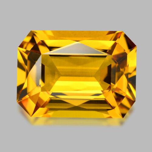 3.96cts DELIGHTFUL CUSTOM EMERALD CUT GOLDEN YELLOW BERYL HELIODOR WATCH VIDEO