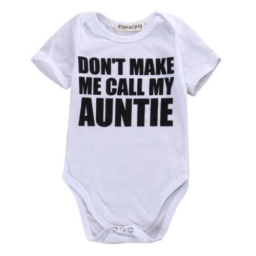 Newborn Infant Baby Boy Girl MY AUNTIE Romper Bodysuit Summe