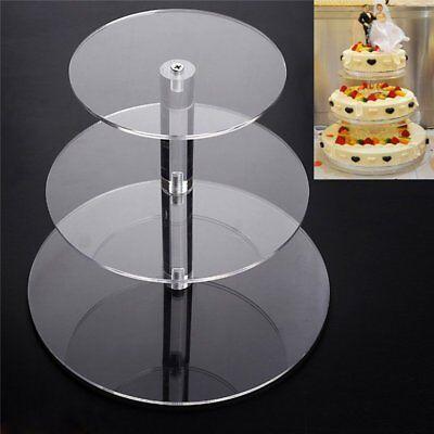 3 Tier Round Wedding Cake Stand Cupcake Tower Dessert Food Display Holder HM (Cupcake Towers)