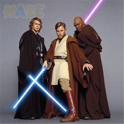 Star Wars Jedi Meister Obi-Wan Kenobi Ben Tunika Cosplay Kostüm Komplett Set - Jedi Meister Kostüm