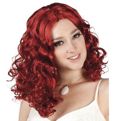 e rot  -  Glamour Rosanna Celeste Langhaar Karneval # 6424 (Glamour Perücke)