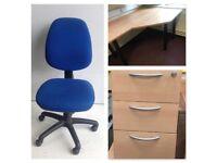 Student Starter Bundle, Desk, Chair and Under Pedistal