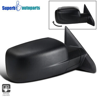 For 2009-2019 Dodge Ram 1500 Manual Foldable ABS Right Passenger Side Mirror 1PC
