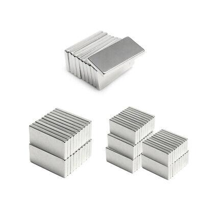 1-50pcs Very Strong Rectangle Shape Ndfeb Neodymium Bar Block Magnetic Magnet