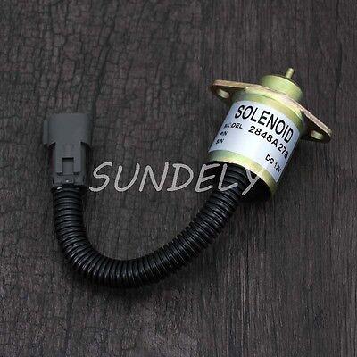 Hi-Q Skid Steer Perkins 2848A278 Diesel Fuel Shutoff Stop Shut Off Solenoid CAT