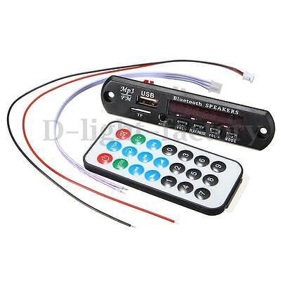 Car Bluetooth 3.0 MP3 WMA Decoder Board Wireless Audio Module USB TF Radio USA