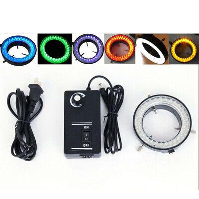 60 Led Stereo Microscope Adjustable Ring Light Illuminator Ring Lamp 6 Colors