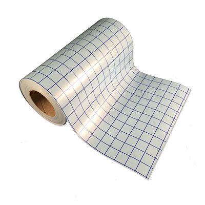 "Blue Grid Clear Transfer Tape for Vinyl Crafts - 1 roll 12""x5' - BEST SELLER"