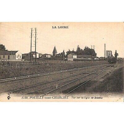 [42] Pouilly-sous-Charlieu - Vue sur la ligne de Roanne.