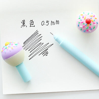 6 X Ice Cream Cute Ballpoint Pen Gel Pen Student Office Stationery Gift