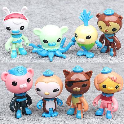 8PCS/pack Octonauts PVC Figures Barnacles Peso Kwazii Dashi Tweak Toys Xmas Gift - Octonauts Characters Tweak