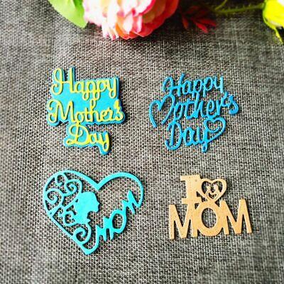DIY Happy Mother's Day Metal Cutting Dies Stencil Scrapbooking Album Paper Card