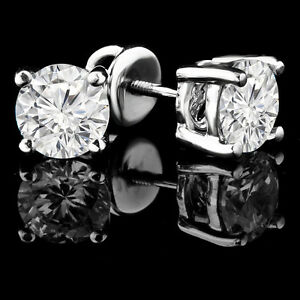 BOUCLES D'OREILLES DIAMANT 1 CTW DIAMOND EARRINGS - ONLY $1299