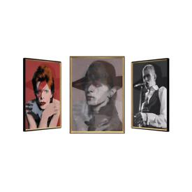 David Bowie' 3 Piece Framed Memorabilia Set Artwork Brand New