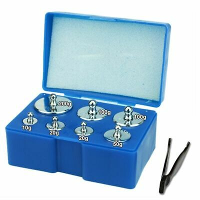 Precision Calibration Scale Weight Set Kit M2 With Tweezers Test Jewelry 7pieces