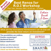 Free Brunch & Learn! Best Renos for R.O.I in Thornhill