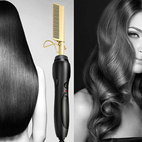 Hair Straightener Hot Comb Heated