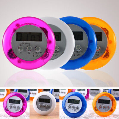Digital Egg Shaped Timer - Digital Magnetic LCD Stopwatch Timer Kitchen Racing Alarm Clock egg Shape