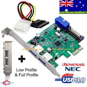 USB-3-0-2-back-20-pin-Internal-Connecter-PCI-E-Card-Full-Low-Profile