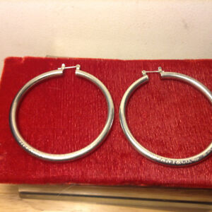 VTG Tiffany & Co. Hoop Earrings Sterling Silver