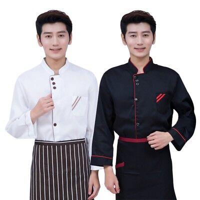 Latest Chef Coat Male Female Mandarin Collar Cook Clothing Cozy Tops No Apron