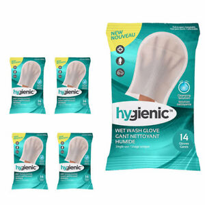 Hygienic Wet Wash Gloves With Cleansing Solution-HYGIENIC.COM