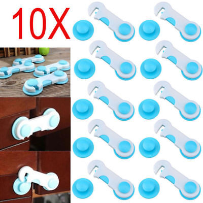 10X Pet Kids Box Drawer Cabinet Cupboard Wardrobe Door Fridge Safe Safety Lock
