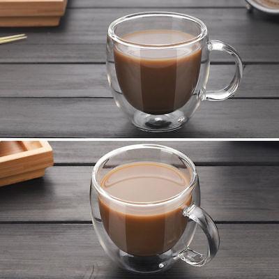 Double Wall Cup Coffee Glass Insulated Mug Water Milk Cup Wine Beer Drinkware