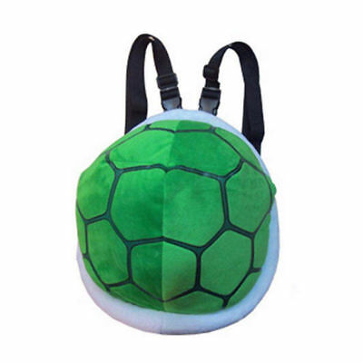 Super Mario Turtle Shell Plush Bagpack Koopa Troopa Green Costume Bag - 11.5 - Koopa Troopa Costume