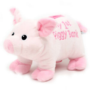 Toy fluffy piggy banks & prayer bears all new w/tags
