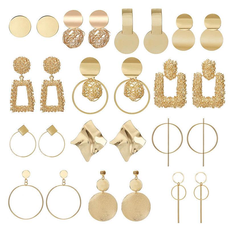 Jewellery - Fashion Statement Metal Geometric For Women Boho Dangle Earrings Modern Jewelry