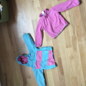 North Face 3 in 1 winter jacket size 2
