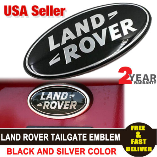 1xAluminum Grille Rear Tailgate Emblem Badge Oval Logo 3D Sticker For Land Rover