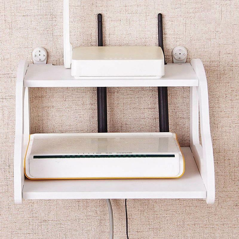 Decorative Wall Shelf White Wall Mount Router TV Wall Shelve