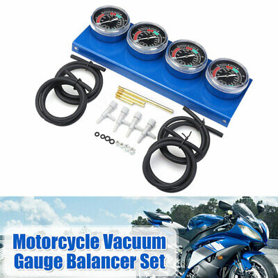 4X Motorcycle Carburetor Carb Vacuum Diagnostic Tool Synchronizer Gauge Balancer