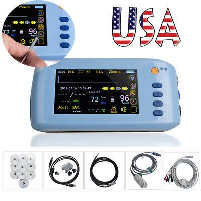 Lcd Touch Screen Patient Monitor 6-parameter Portable Icu Ccu Vital Sign Cardiac