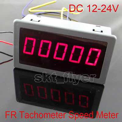 Digital Red Led Frequency Tachometer Rotate Speed Meter Dc12-24v Car 7943mm