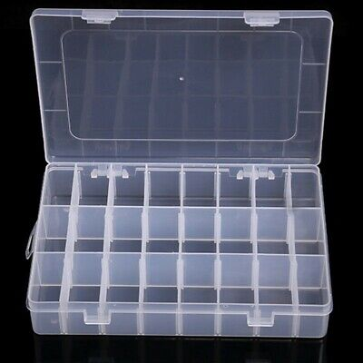 36 Compartments Clear Plastic Storage Box Jewelry-Bead Screw Organizer Container](Clear Storage Boxes)