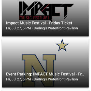 3 Impact festival tickets