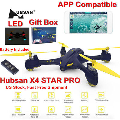 Hubsan H507A X4 Personage Wifi FPV RC Quadcopter Drone w/720P Camera WayPoint GPS RTF