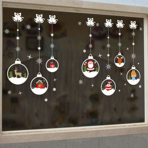 Home Decoration - Christmas Xmas Santa Removable Window Stickers Art Decal Wall Home Shop Decor D